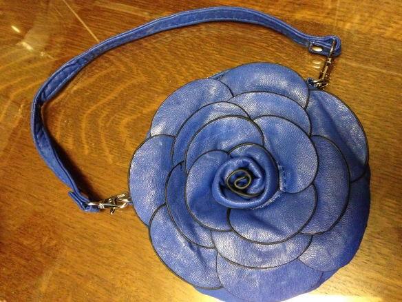 Sweet little blue leather purse